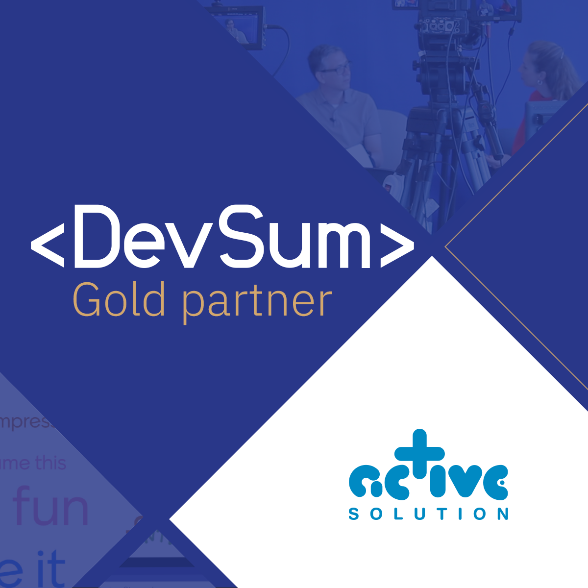 Active Solution Guldpartner till Devsum 2021